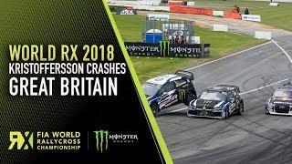 Kristoffersson Big Crash in Semi-Final 1 | Cooper Tires World RX of Great Britain