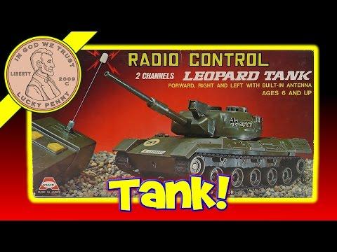 Radio Control Leopard RC Tank - Asahi Made In Japan