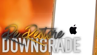 DOWNGRADE iOS 10.X.X to iOS 9.X.X using Re-Restore Bug!