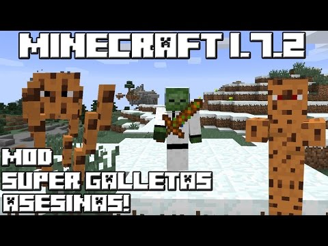 Minecraft 1.7.2 MOD SUPER GALLETAS ASESINAS