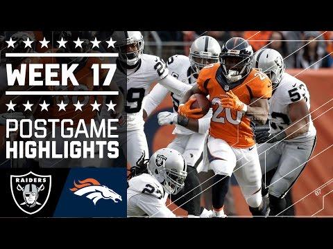 Raiders Vs Broncos Nfl Week 17 Game Highlights