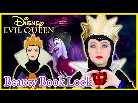 DISNEY BEAUTY BOOK LOOK: EVIL QUEEN MAKEOVER! VILLAIN MAKEUP SET REVIEW TUTORIAL COSPLAY  PLP TV