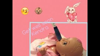 Baby Alive Saturday:Kendra is Sick