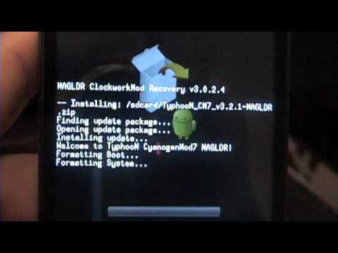 HTC HD2 Step by Step MAGLDR method of Loading Android Gingerbread