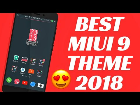 MIUI 9 BEST THEME FOR 2018 | REDMI NOTE 4 | BEST THEME FOR REDMI NOTE 4 #1