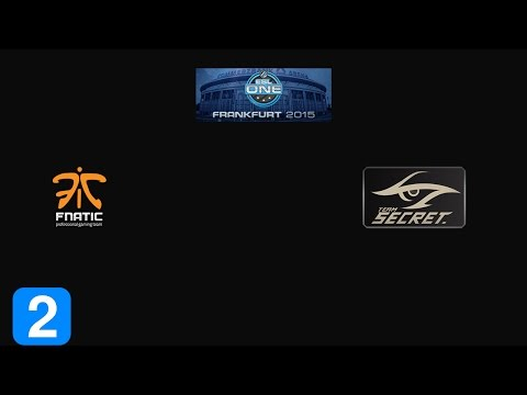 Must Watch Fnatic vs Team Secret Game 2- ESL One Frankfurt 2015