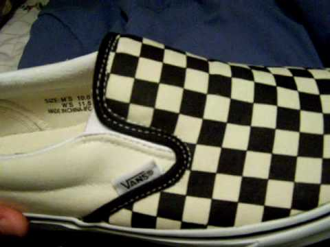 Fresh vans slip-on white and black checker board. Video