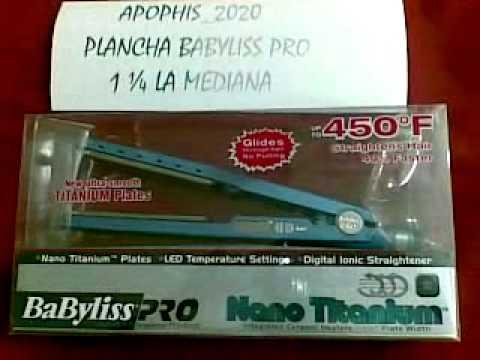 Planchas BABYLISS PRO nano 1 1/4