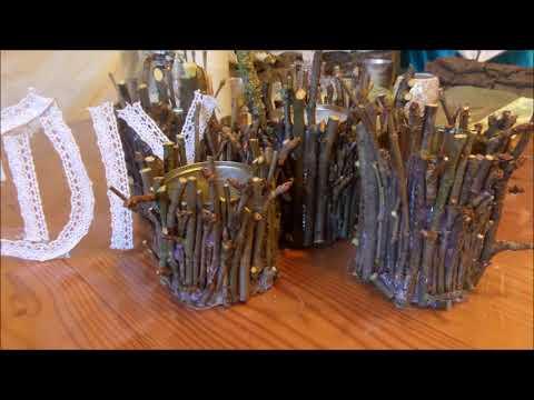 07:34 DIY: HOLZ DEKO Gefäß, Kerzenständer Aus Ästen SELBER Machen Für Viele  DEKO