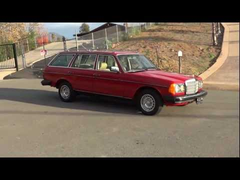 300TD Mercedes Benz W123 TDI Turbo Diesel KOMBI Station Wagon Red Estate