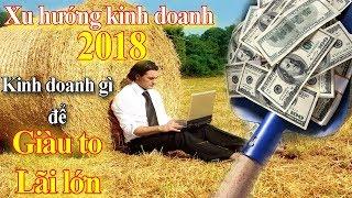 Xu hướng kinh doanh 2018, Kinh doanh gì để Giàu to Lãi lớn Nhiều tiền nhất năm 2018   Tài chính 24h