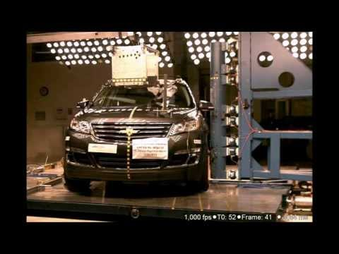 2013 Chevy Traverse / Buick Enclave / GMC Acadia   Pole Crash Test by NHTSA   CrashNet1