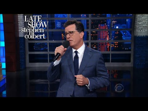 A Devastated Stephen Colbert Sings Farewell To The Mooch