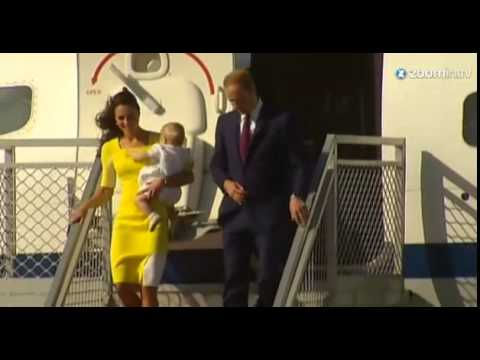 Kate, William et George sont arrivés en Australie
