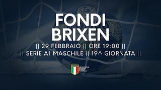 Serie A1M [19^]: Fondi - Brixen 33-30