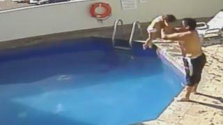 Captan en video el momento en que un hombre ahoga a una niña de tres años
