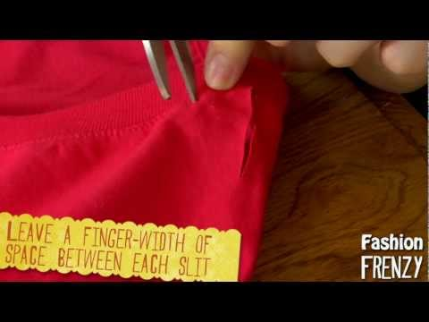 Fashion Frenzy - Episode 1: Braided T-shirt Neck DIY
