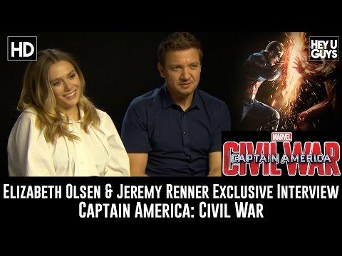 Elizabeth Olsen & Jeremy Renner Exclusive Interview - Captain America: Civil War