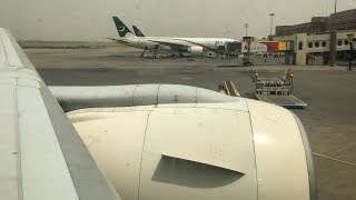 PIA Boeing B777-200ER PIA 303 Takeoff from Lahore to Karachi (with LiveATC)