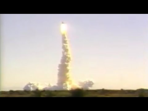 Space Shuttle Challenger launch & explosion filmed  from the Shuttle Landing Facility (SLF)