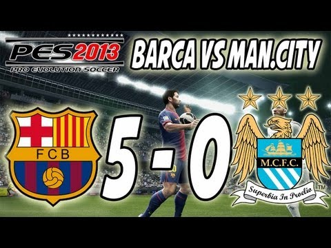 PES 2013 - Barcelona Vs. Manchester City (5-0)