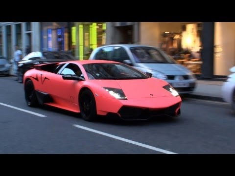 MATTE PINK Lamborghini Murcielago LP670-4SV - Driving Scenes, Revs and Acceleration