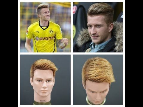Marco Reus Haircut & Hair Color Tutorial TheSalonGuy