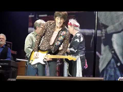The Rolling Stones y Eric Clapton juntos en concierto en Londres (VIDEO)