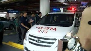ICYMI: Police arrive at the Senate following Makati court's order to arrest Trillanes