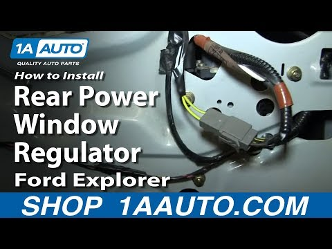 How to install replace rear power window regulator 2004 08 for 2002 ford explorer window regulator replacement
