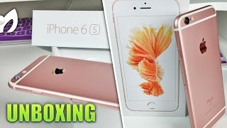 UNBOXING #iPhone6s ROSE GOLD Español (ORO ROSADO) 3D Touch