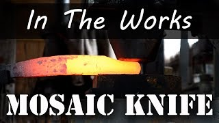 Matt Forges a Mosaic Damascus Knife - In The Works