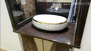 Granite WashBasin Counter Design | Washbasin Counter Design