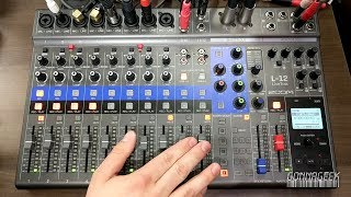 Zoom LiveTrak L-12 Digital Mixer / Recorder Overview and First Impressions Walk-through