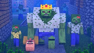 Zombie vs Villager Life 10 - Alien Being Minecraft Animation