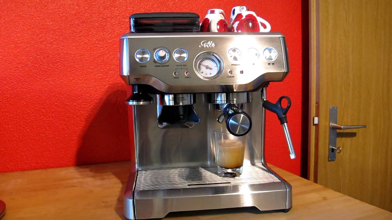 solis barista pro kaffee premium class espresso maschine. Black Bedroom Furniture Sets. Home Design Ideas