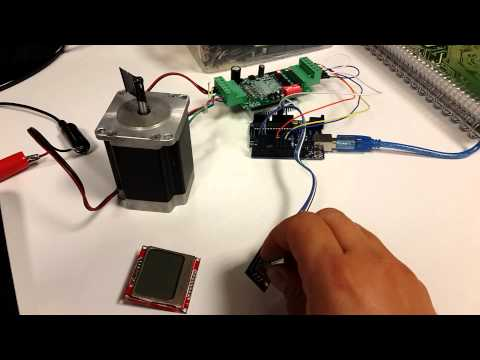 Stepper Motor Accel Library Rotary Encoder Control with Arduino