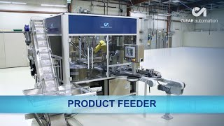 Automated Product Feeder Uses Two FANUC Robots for Bottle Handling - Clear Automation