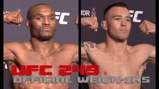 UFC 245 Official Weigh-Ins: Kamaru Usman vs Colby Covington