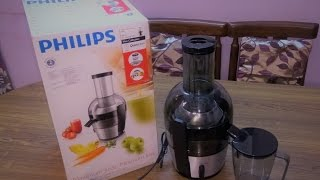 Philips Viva Collection HR1863/20 2-Litre Juicer (Black/Silver) - Unboxing and Review
