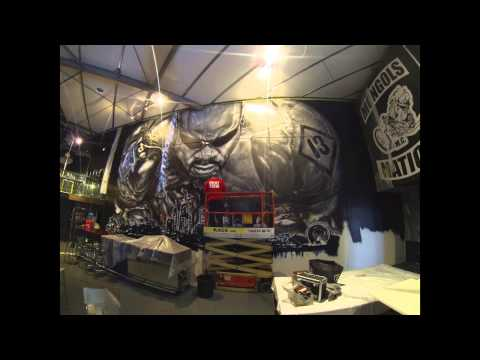 Mongols Mc Mural. Clap Meataxe Design. Melburn Graffiti. video