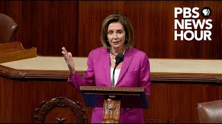 WATCH: Pelosi calls Trump's tweets about congresswomen 'racist' in House speech