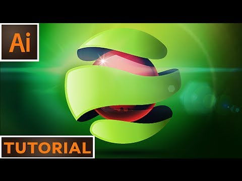 Create an abstract 3D logo - Adobe Illustrator - YouTube