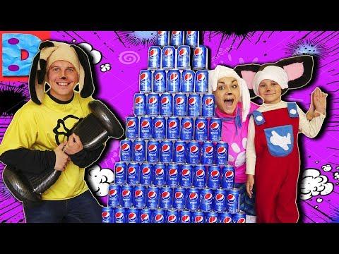 Челлендж Вызов принят от Ярославы Спортивной Огромная Пирамида Пепси Колы VS Гироскутер Новинка