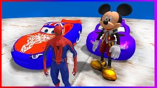 Superhero Movie Mickey Mouse and Spider-Man Disney Cars Lightning McQueen Steep Descent