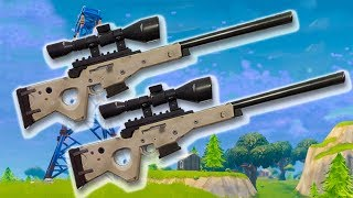 DOUBLE Sniper Set-Up // Fortnite Sniper + Builder // 7,000+ Kills // Fortnite Battle Royale