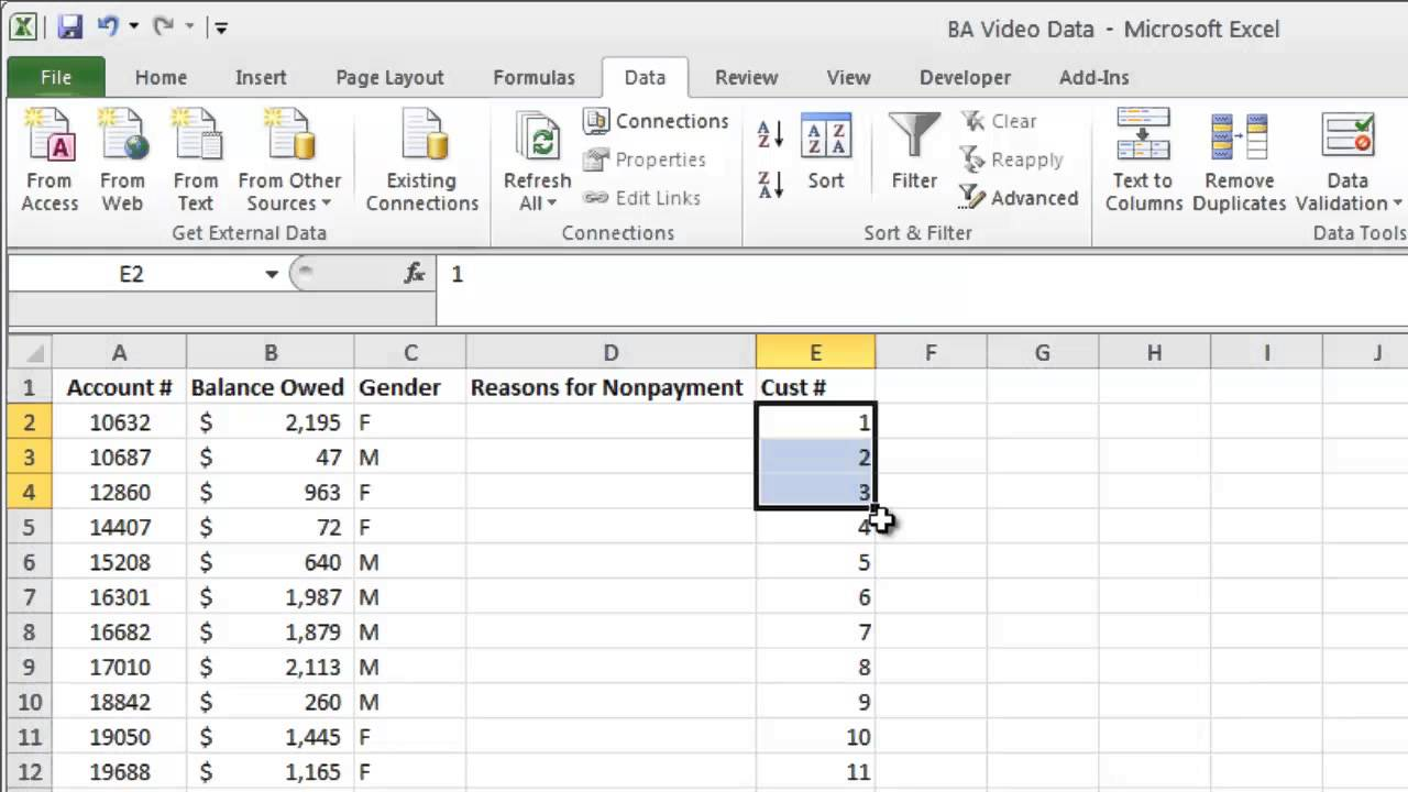 mod function for systematic random sampling excel