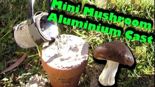 🍄 The worlds smallest mushroom casting - Molten aluminium 🍄