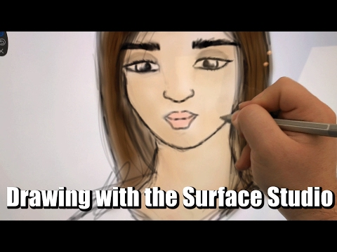 Drawing With The Microsoft Surface Studio