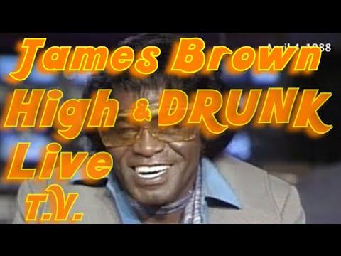 James Brown getting interviewed high.